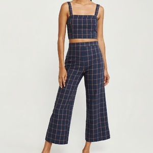 Abercrombie & Fitch Linen blend top and pants set